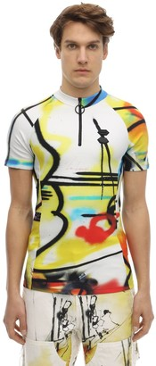 Off-White Futura Spray Print Nylon Cycling T-shirt
