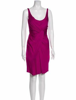 Stella McCartney Vintage Knee-Length Dress Purple