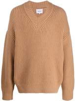 Nanushka V-neck chunky knit jumper