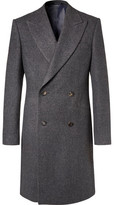 Richard James Herringbone Wool Double-breasted Coat - Charcoal