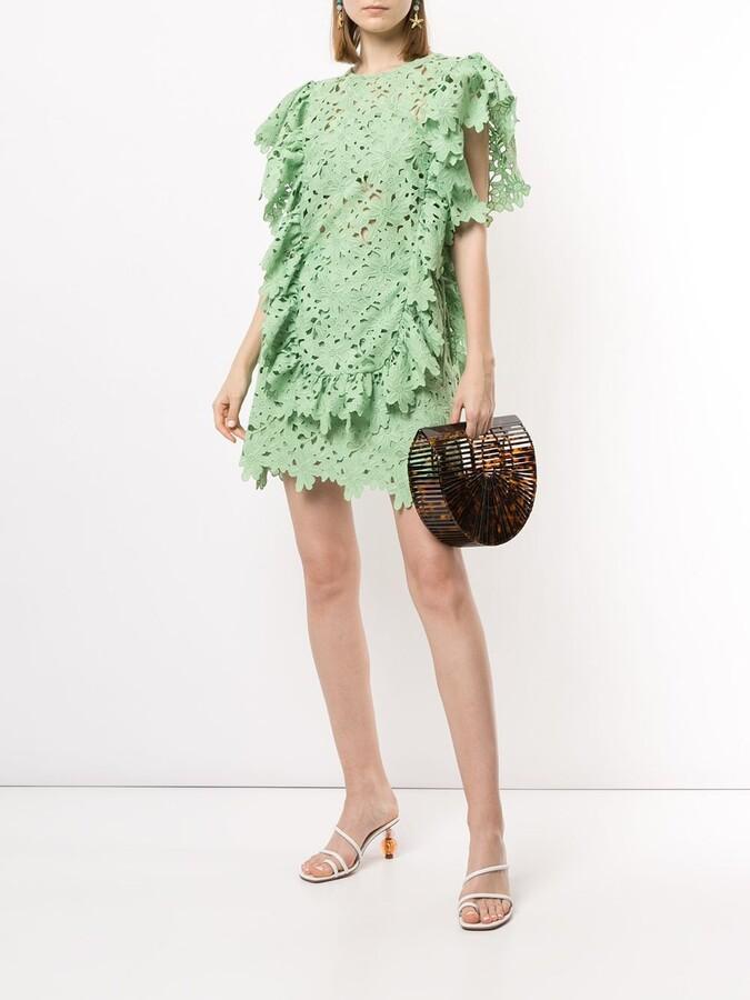 Thumbnail for your product : Bambah Lace Crochet Mini Skirt