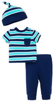 Offspring Babys Three-Piece Hat, Tee and Pants Set