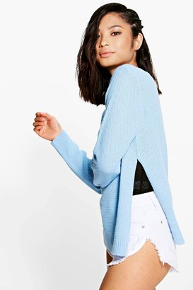 boohoo Petite Side Split Tunic Jumper