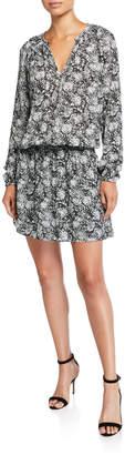 Ramy Brook Landa Printed Blouson Mini Dress