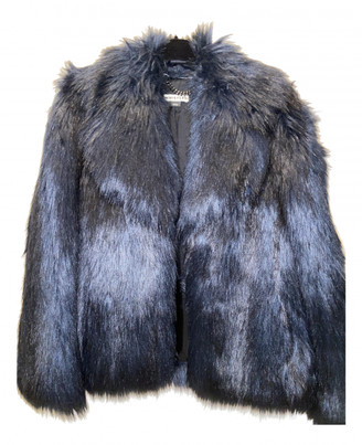 Whistles Navy Faux fur Coats