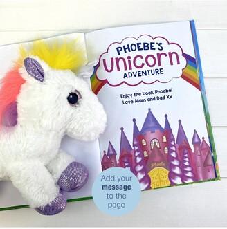 Personalised Unicorn Story Plush Toy Gift Set including FREE Giftbox
