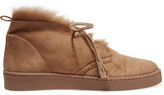 Pedro Garcia Parley Shearling-lined Suede Desert Boots - Beige