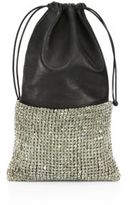 Alexander Wang Ryan Leather & Crystal Dustbag