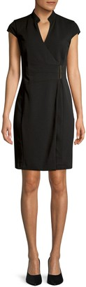 Calvin Klein Collection Cap-Sleeve Wrap Dress