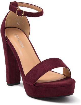 Top Moda Thomas Platform Ankle Strap Sandal