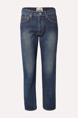 Junya Watanabe Cropped High-rise Straight-leg Jeans - Mid denim