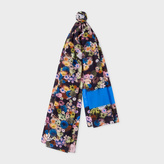Paul Smith Women's Navy 'Ocean Floral' Print Scarf