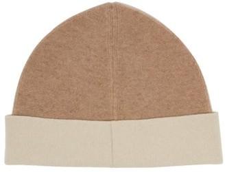 Jil Sander Bi-colour Wool-blend Beanie Hat - Womens - Camel