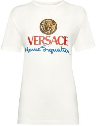 Versace White House Logo Crewneck Tee