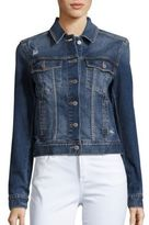 Jean Shop Angie Western Cropped Denim Jacket