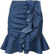 Caroline Constas ruffle front skirt