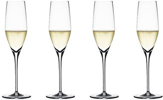 Spiegelau Authentis 4-Piece Crystal Glass Champagne Flute Set