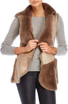 Dena Bonded Real Rex Rabbit Fur Vest