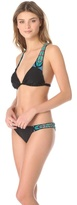 Mara Hoffman Beaded Feather Bikini Top
