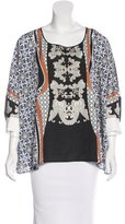 Clover Canyon Printed Scoop Neck Blouse