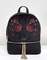 Lipsy Embroidered Velvet Backpack