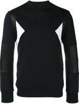 Neil Barrett geometric panelled sweatshirt