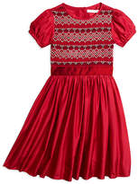 Brooks Brothers Short-Sleeve Silk Smocked Dress