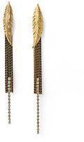 Feather Post Earrings