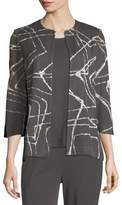Misook Spiderweb 3/4-Sleeve Jacket, Plus Size