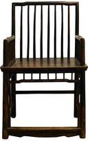 One Kings Lane Vintage Antique Chinese Handmade Elm Wood Chair