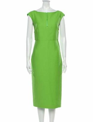 Rachel Comey Bateau Neckline Midi Length Dress Green