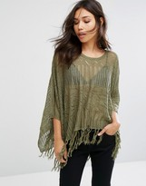 Pieces Sidsel Light Knit Poncho