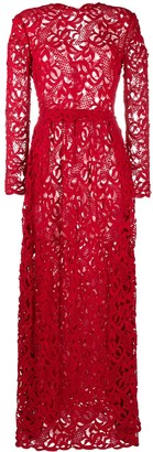 Valentino Pre Owned 2012 Long-Sleeved Lace Dress