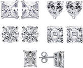 Gottex Plated Silver Cz 5Pc Post Earring Set