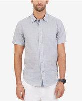 Nautica Men's Big & Tall Gingham Short-Sleeve Shirt