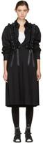 Noir Kei Ninomiya Black Plaited Suspender Pleated Skirt