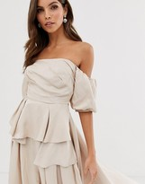 Asos Edition EDITION off shoulder top with drape side