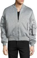 Givenchy Jersey Bomber Jacket, Gray