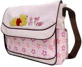 Disney Winnie the Pooh Large Diaper Bag (Pink Floral Flap Bag)