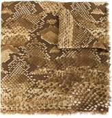 Roberto Cavalli snakeskin print scarf