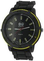 Crosshatch Men's Quartz Watch with Black Dial Analogue Display and Black Silicone Strap CRS01/B