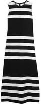 Calvin Klein Collection Striped Stretch-knit Dress - Black