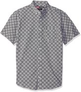 Nick Graham Men's Iron Man Arc Reactor Check Short Sleeve Sport Shirt