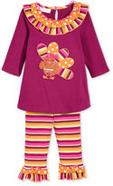 Bonnie Baby Baby Girls' 2-Pc. Turkey Tunic & Leggings Set