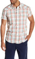 Lucky Brand Short Sleeve Textured San Berdu Classic Fit Western Shirt