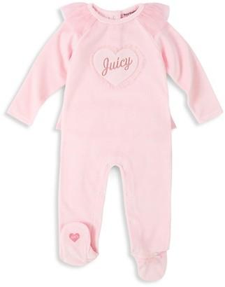 Juicy Couture Baby Girl's Velour Footie
