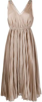 Fabiana Filippi Sleeveless Pleated Midi Dress