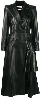 Alexander McQueen Stapled Leather Coat