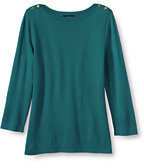 Classic Women's Petite Performance Button Boatneck Sweater-Clear Coral