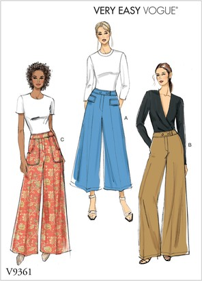 Vogue Very Easy Women's Trousers Sewing Pattern, 9361